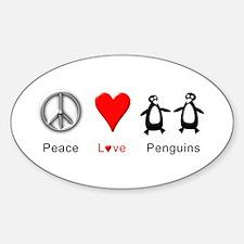 Peace Love Penguins Decal