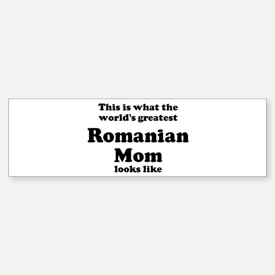 Romanian mom Bumper Car Car Sticker