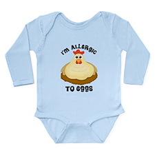 Egg Allergy Long Sleeve Infant Bodysuit