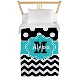 Black and teal Duvet Covers