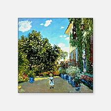 "Monet - The Artist's House  Square Sticker 3"" x 3"""