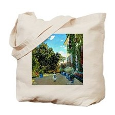 Monet - The Artist's House at Argenteuil Tote Bag
