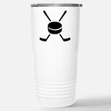Crossed hockey sticks p Travel Mug