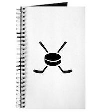 Crossed hockey sticks puck Journal