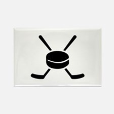 Crossed hockey sticks p Rectangle Magnet (10 pack)