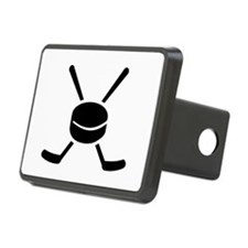 Crossed hockey sticks puck Hitch Cover