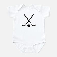 Hockey sticks puck Infant Bodysuit