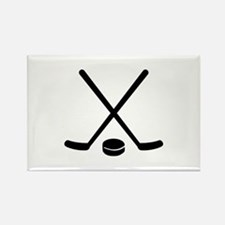 Hockey sticks puck Rectangle Magnet