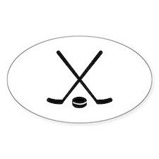 Hockey sticks puck Decal