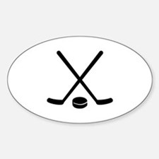 Hockey sticks puck Decal