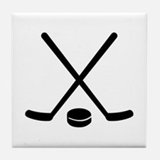 Hockey sticks puck Tile Coaster
