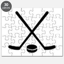 Hockey sticks puck Puzzle
