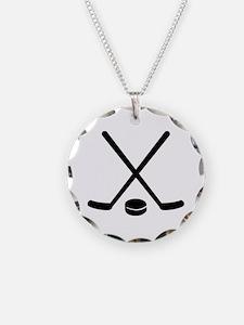 Hockey sticks puck Necklace