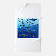 Shark Gathering Beach Towel