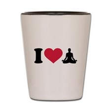 I love Yoga Shot Glass