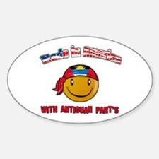Made in America with Antiguan Oval Decal