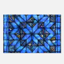 Blue Paisley Quilt Postcards (Package of 8)