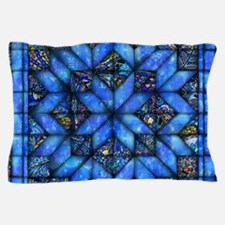 Blue Paisley Quilt Pillow Case