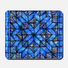 Blue Paisley Quilt Mousepad