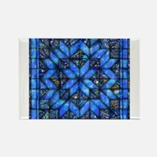 Blue Paisley Quilt Magnets