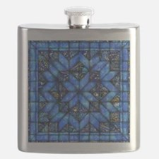 Blue Paisley Quilt Flask