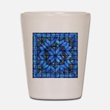 Blue Paisley Quilt Shot Glass