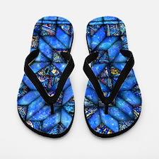 Blue Paisley Quilt Flip Flops