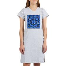 Blue Paisley Quilt Women's Nightshirt