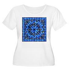 Blue Paisley Quilt Plus Size T-Shirt