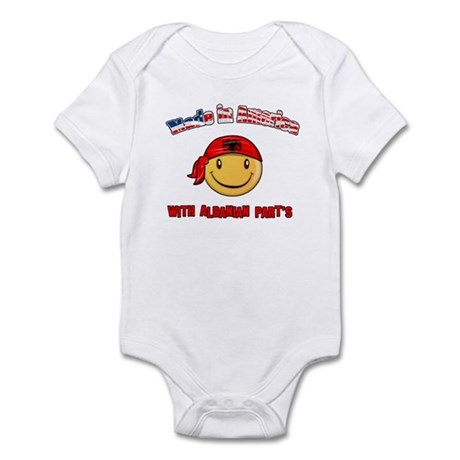 Made in America with Albanian Infant Bodysuit