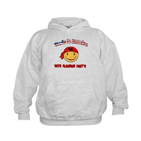 Made in America with Albanian Kids Hoodie