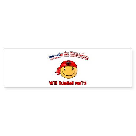 Made in America with Albanian Bumper Sticker