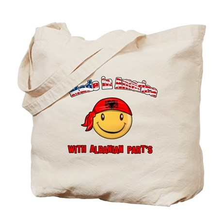 Made in America with Albanian Tote Bag