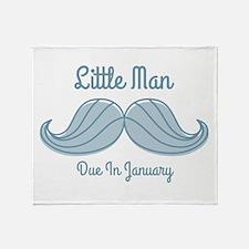 Mustache LM Jan Throw Blanket