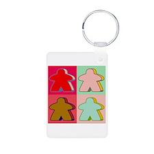Pop Art Meeple Keychains