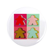 "Pop Art Meeple 3.5"" Button"