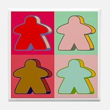 Pop Art Meeple Tile Coaster