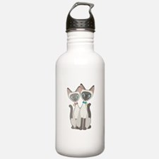Siamese Cats Water Bottle