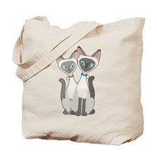 Siamese Cats Tote Bag