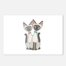 Siamese Cats Postcards (Package of 8)