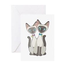Siamese Cats Greeting Card