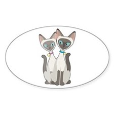Siamese Cats Decal