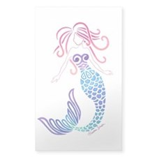 Tribal Mermaid Sticker (rectangle)