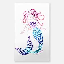Tribal Mermaid Sticker (rectangle)