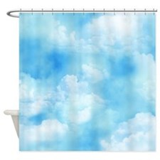 Blue Clouds Shower Curtain