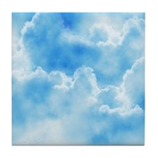 Blue Clouds Tile Coaster