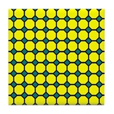Yellow Tiles Tile Coaster