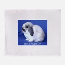 Holland Lop Rabbit.jpg Throw Blanket