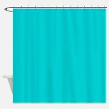 Turquoise Dark Shower Curtain