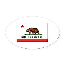 Flag of California Oval Car Magnet